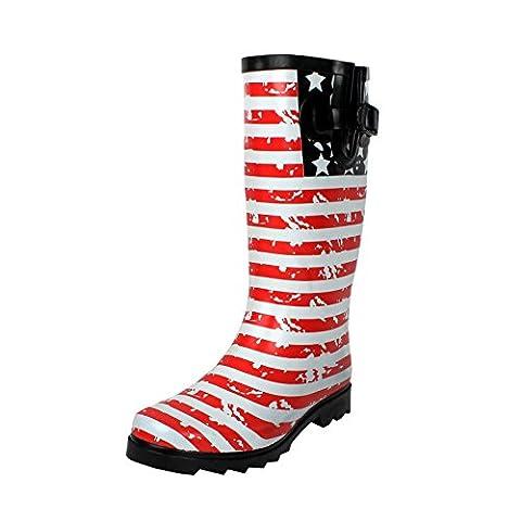 West Blvd Rainboots Rain-Boots, US Buckle Rubber, 10 - Wellies