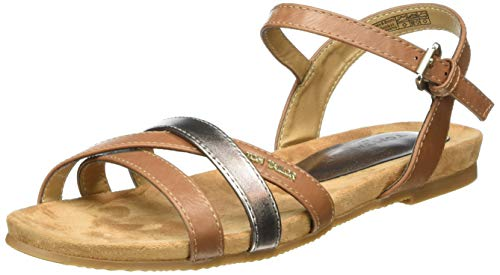 TOM TAILOR Damen 8092203 Riemchensandalen