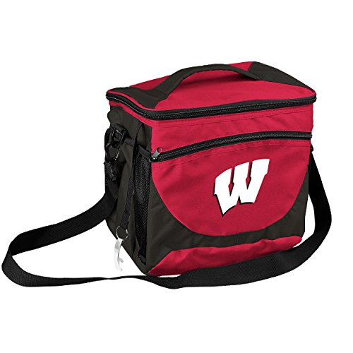 - NCAA Wisconsin Badgers 24-Can Cooler with Bottle Opener and Front Dry Storage Pocket