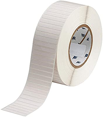 Pack of 10000 Brady THT-48-729-10 High-Temperature Industrial Polyimide Barcode Label White 0.250 H x 2.000 W 10000//Roll