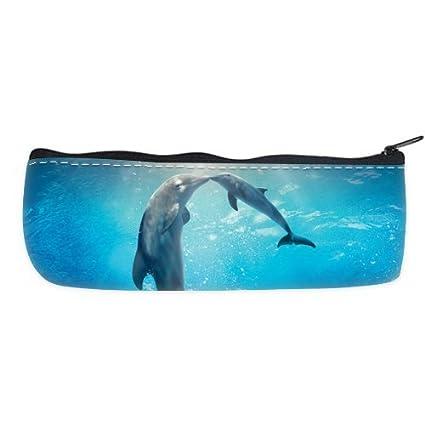 6063d83005a0 Amazon.com : Cheap And Nice Dolphin Kiss Nylon Oxford Pencil Pouch ...