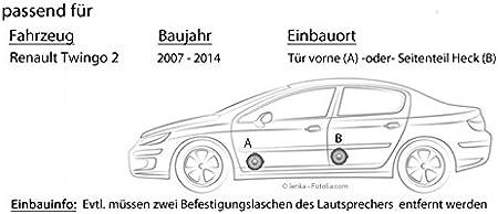JUST SOUND best choice for caraudio Sony XS-FB1330-13cm 3-Wege Koax Lautsprecher Einbauset f/ür Renault Twingo 1 Phase 2 Front