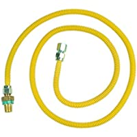 BrassCraft CSSD45E-72 P 1/2-Inch MIP EFV x 1/2-Inch FIP x 72 In.Safety+PLUS Gas Appliance Connector, 1/2-Inch OD 49,100 BTU by BrassCraft Mfg