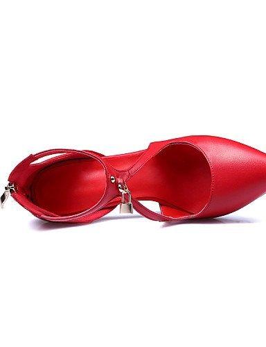 Ei&iLI Zapatos de boda - Tacones - Tacones / Comfort / Pump Básico / Puntiagudos / Punta Cerrada -Boda / Oficina y Trabajo / Vestido / Fiesta y , 2in-2 3/4in-red 1in-1 3/4in-red