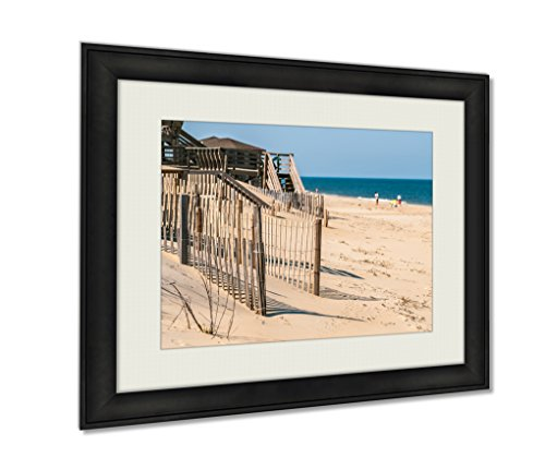 Ashley Framed Prints, Town Of Nags Head Scenes On Outer Banks Nc, Wall Art Decor Giclee Photo Print In Black Wood Frame, Ready to hang, 16x20 Art, - In Nags Head