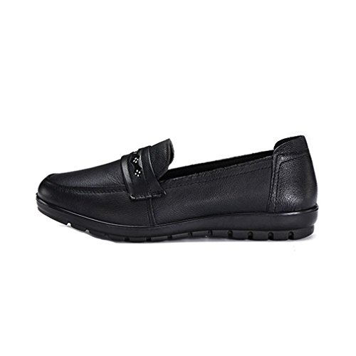 Giy Femmes Occasionnels Mocassins Affaires Mocassins Appartements Confort Slip-on Robe Strass Penny Loafer Chaussures Noir