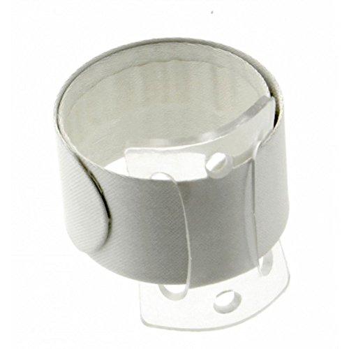 Floristrywarehouse Snap/Wrap Wristlet Corsage Bracelet Ivory 1 Inch Wide x 2 ()
