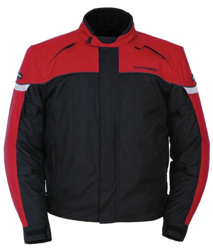 Tour Master Jett Series 3 Men's Textile Sports Bike Motorcycle Jacket - Red/Black / Large