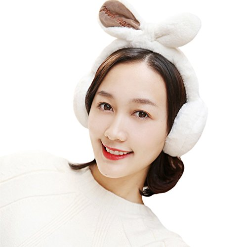 Winter Cute Panda Earmuff Ear Muff Warmer-White - 7
