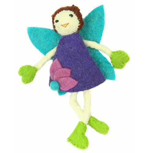 Tooth Fairy with a Pouch and Brown Hair - Handmade in Nepal … ()