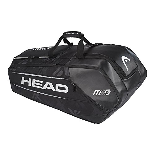 HEAD MXG 12 Racquet Monstercombi Tennis Bag (Black/Silver)