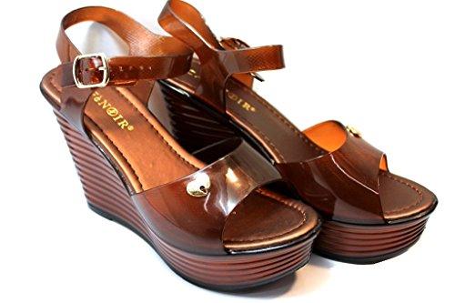 Cafenoir - Sandalias de vestir de pvc para mujer negro