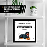 Gifts for Rottweiler Lover | 7x7 Tile Artwork | Quotes Decor for Dog Owners | Unique Art Print of Rottweilers | Present for Dog Lovers | Decorative Gift for Home | Perfect for Men & Women 7