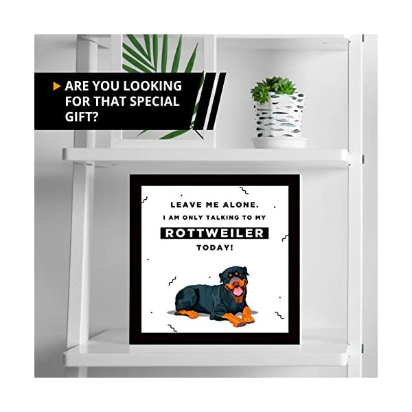 Gifts for Rottweiler Lover | 7x7 Tile Artwork | Quotes Decor for Dog Owners | Unique Art Print of Rottweilers | Present for Dog Lovers | Decorative Gift for Home | Perfect for Men & Women 2