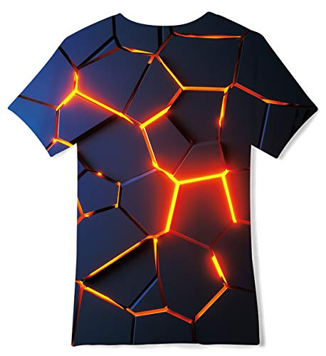 ALISISTER Boys Girls 3D Printed Graphic T-Shirt Kids Short Sleeve Tee Shirts for 6-14 Years