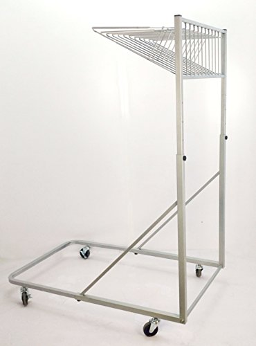 FixtureDisplays Vertical File Rolling Stand for Blueprints, File Organizer Rack - Silver 16742 by FixtureDisplays