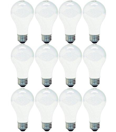 GE Halogen Light Bulbs, A19 Light Bulbs, 53-Watt, 890 Lumen, Medium Base, Soft White, 12-Pack, Replacement for 60-Watt…
