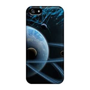 For Iphone 5/5s Tpu Phone Cases Covers(3d Art Cosmos Space)