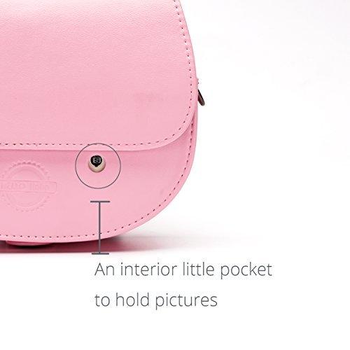 Fujifilm Instax Mini 'Hello Kitty' funda de cámara instantánea, HelloHelio [Exact-fit] rosa gatito lazo funda para INS Mini...