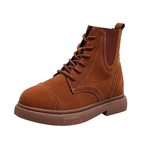 AgrinTol_Women Shose Women¡¯s Booties,Clearance!AgrinTol High-Cut Low-Tube Side Zipper Belt Buckle High Help Martin Boots (Cut Buckle Coin Belt)