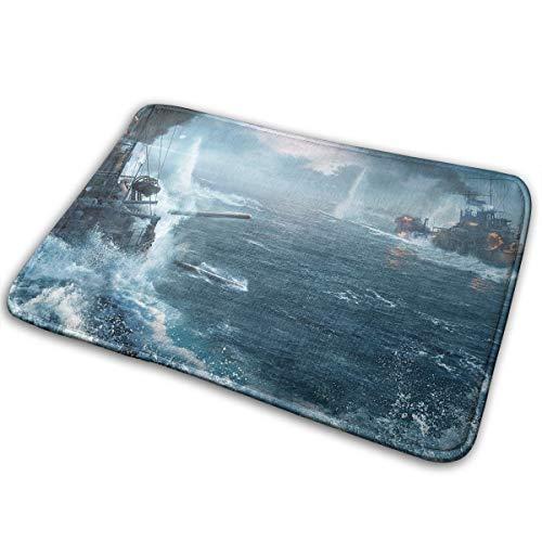 Kui Ju Non-Slip Doormat Entrance Rug Fade Resistant Floor Mats Ship War Shoes Scraper 23.6x15.7x0.39Inch ()