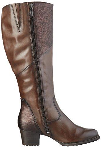 Tamaris 1-1-25538-27 - Botas altas con tacón para mujer Marrón (Mocca/Struct. 378)