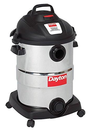 Dayton Wet/Dry Vacuum, 6 HP, 12 gal, 120V