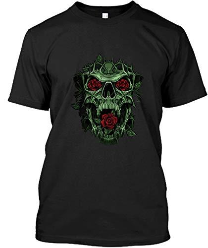 popularshop Gothic Skull Rose Thorns Liquid Comfort Soft Short Sleeve Shirt YENWYWYP