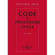 Code de procédure civile 2016 (Codes Dalloz Universitaires et Professionnels) (French Edition)