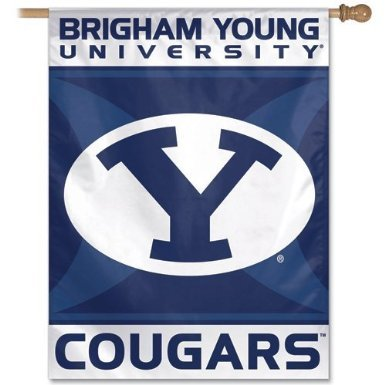 BYU Brigham Young University Cougars Vertical House Flag Banner