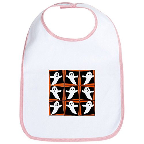 CafePress - Pop Art Ghosts for Halloween Bib - Cute Cloth Baby Bib, Toddler Bib