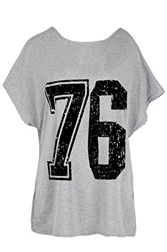 Be Jealous Mujer Lagenlook apagado el hombro parte superior I 'm a edición limitada camiseta 76 Grey Black