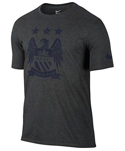 Nike Manchester City Crest T-Shirt (Charcoal Heather) Medium
