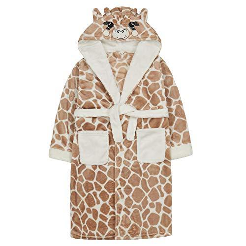 4Kids Kinderen/Meisjes Nieuwigheid Giraffe Fleece badjas met staart – 2-13 jaar