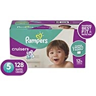 Diapers Size 5, 128 Count - Pampers Cruisers Disposable Baby Diapers, ONE MONTH SUPPLY