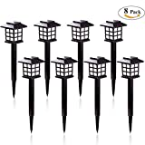 Lavcus Solar Pathway Lights Outdoor - Waterproof Outdoor Solar Lights for Garden, Landscape, Path, Yard, Patio, Driveway, Walkway (8 Pack, Warm White)