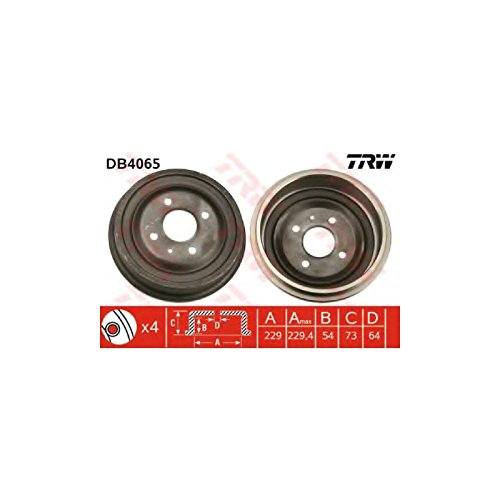 TRW DB4065 Brake Drums: