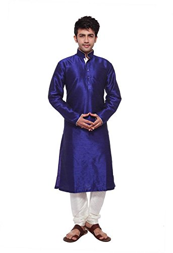 Larwa Men's Festive, Wedding Kurta Pyjama Set Special for eid=Blue by Larwa