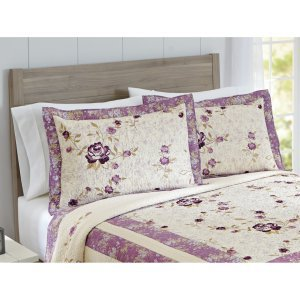 "Purple Blossom Quilted""KING SHAM"" 20""x 36"" from Better Homes & Gardens"