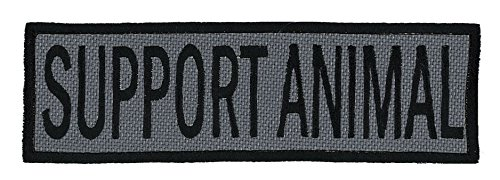 (Northern Safari Support Animal Embroidered Patch with Border! Over 50 Fabrics to Choose! Same Day Ship! Made in The USA! Sew On or Hook Fastener. Foliage Fabric 7