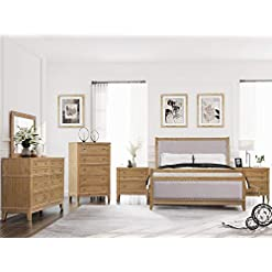 Bedroom SOFTSEA 6-Piece Furniture Set for Bedroom, Modern Bedroom Sets with Wood Bed Frame with 4 Drawers, 2 Nightstands, 6… modern bedroom furniture sets