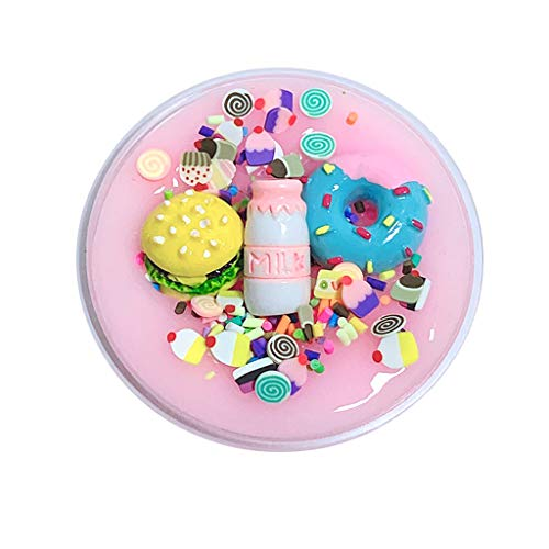 HADIY Slime Unique DIY Burger Milk Slime Birthday Cake Slime Kids Relief Stress Toys Gift for Girls and Boys 60 ML (Pink) ()