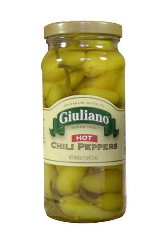 Giulianos' Specialty Foods, Peppers, Hot Chili, 6/16 Oz