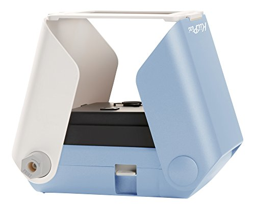 KiiPix Smartphone Picture Printer, Blue | Instantly Print Fun, Retro-Style Photos | Portable Photo Printer