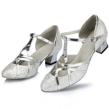 Zapatos Silver Personalizables Tacón baile de Carrete Latino Oro Plata rnrR6xp