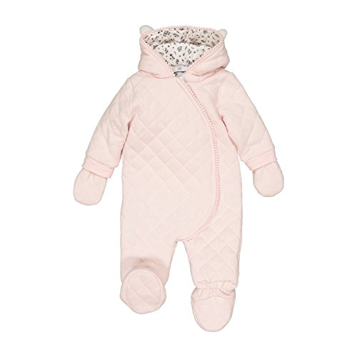 61a65a1d5 La Redoute Collections Big Girls Fleece Hooded Snowsuit, 1 Month-2 Years  Pink Size