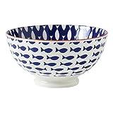 Torre & Tagus 910549L Kiri Porcelain 6-Inch Medium Fish Bowl