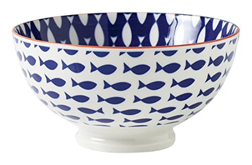 Torre & Tagus 910549L Kiri Porcelain 6-Inch Medium Fish Bowl by Torre & Tagus