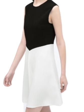 Zara Two Toned Dress L Black/White