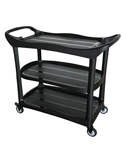 Large Size Utility Cart, 3 Shelf Cart with Heavy Duty Pla...